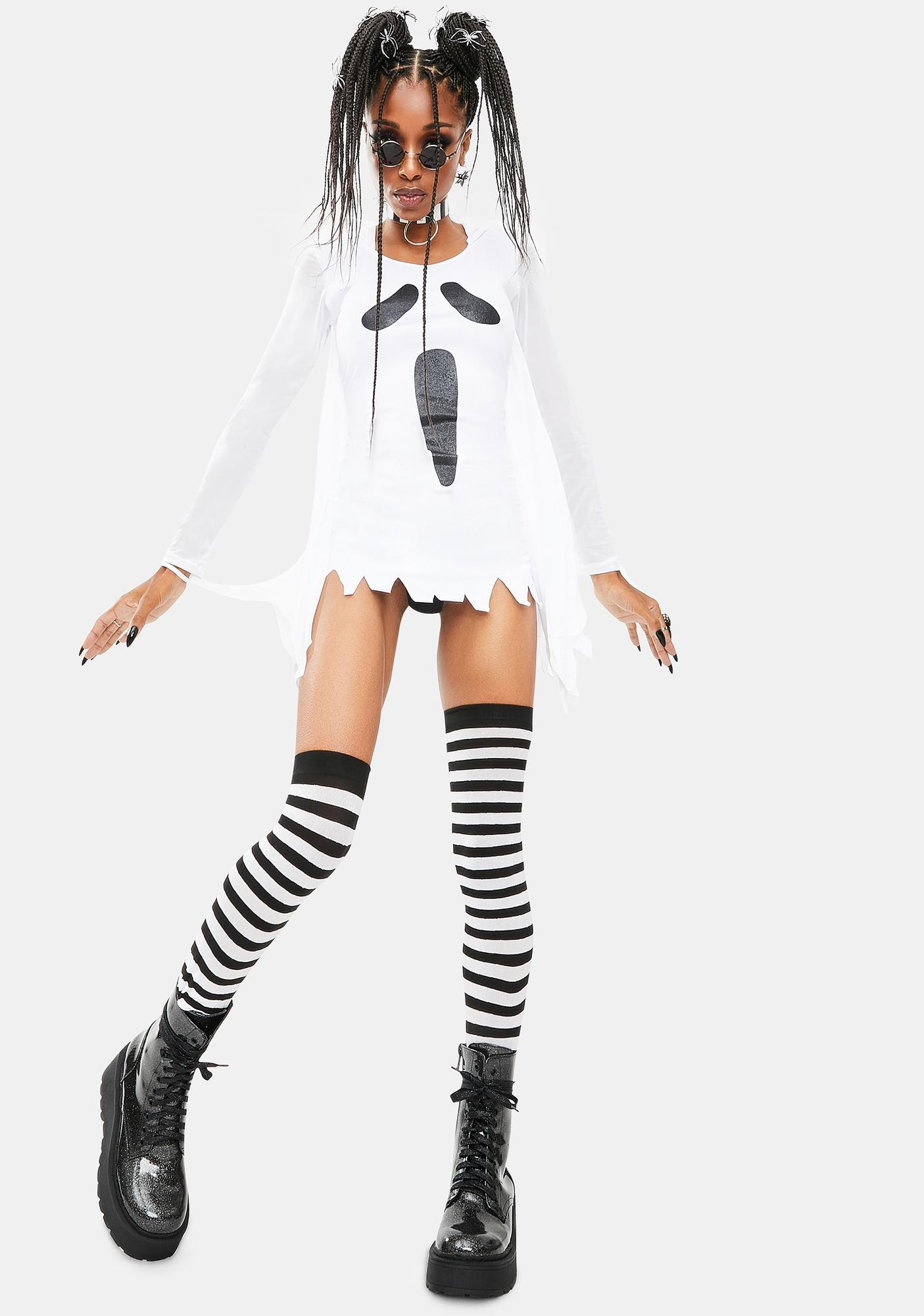Dolls Kill My Time Now Ghost Costume