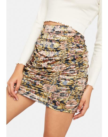 Gigi Mini Printed Skirt