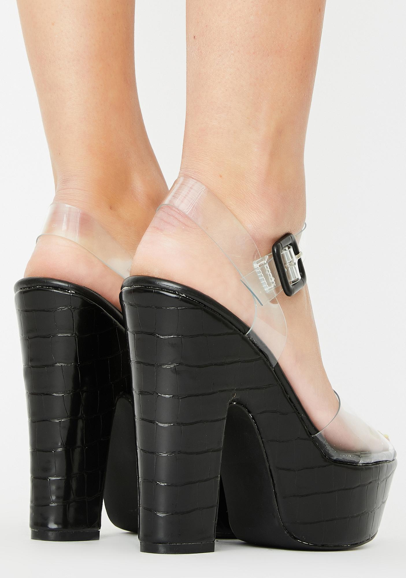 Full Of It Platform Heels