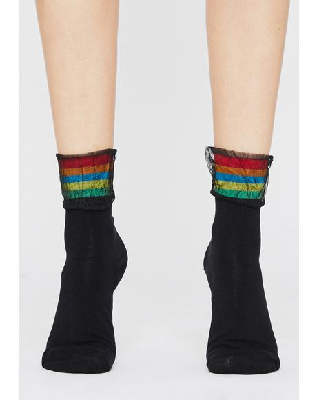 Hazy Hues Ankle Socks