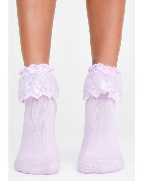 Fairy Spoiled Not Rotten Ruffle Socks