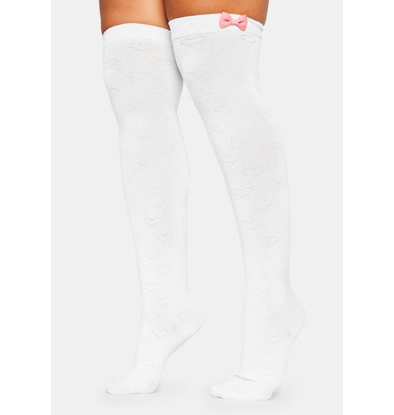 All About Love Thigh High Socks