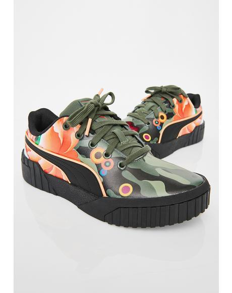 X Sue Tsai Cali Peonies Camo Sneakers