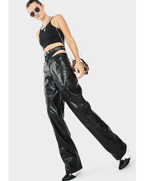 Becki Vegan Leather Pants