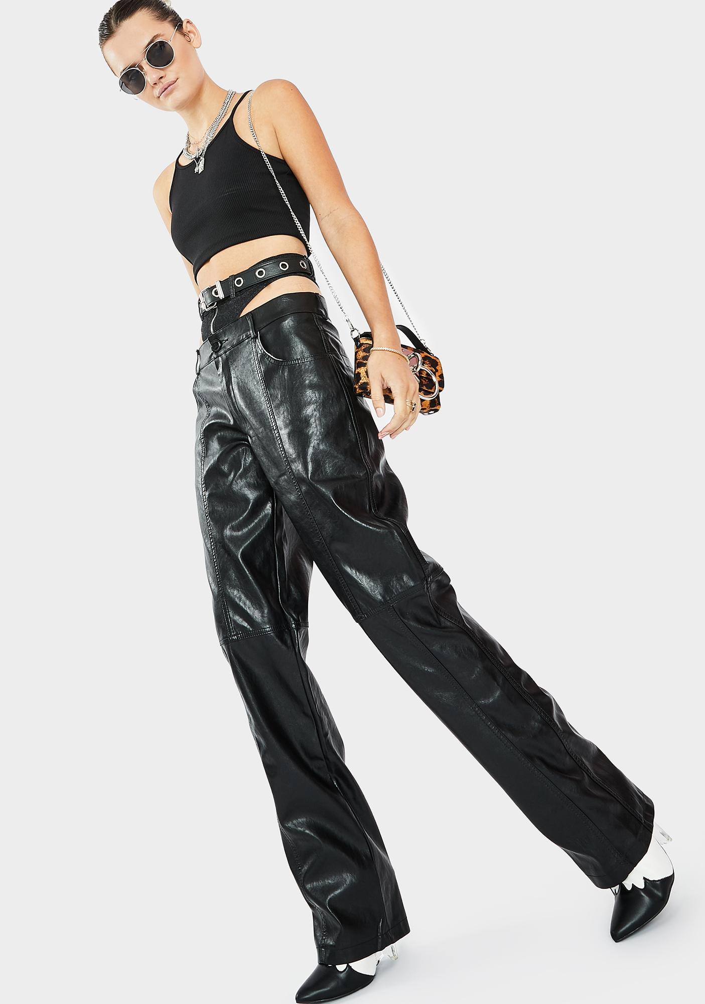 THE KRIPT Becki Vegan Leather Pants
