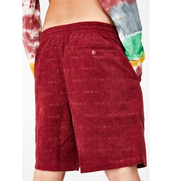 HUF Fuck It Corduroy Shorts