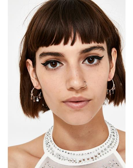 Catch A Star Hoop Earrings
