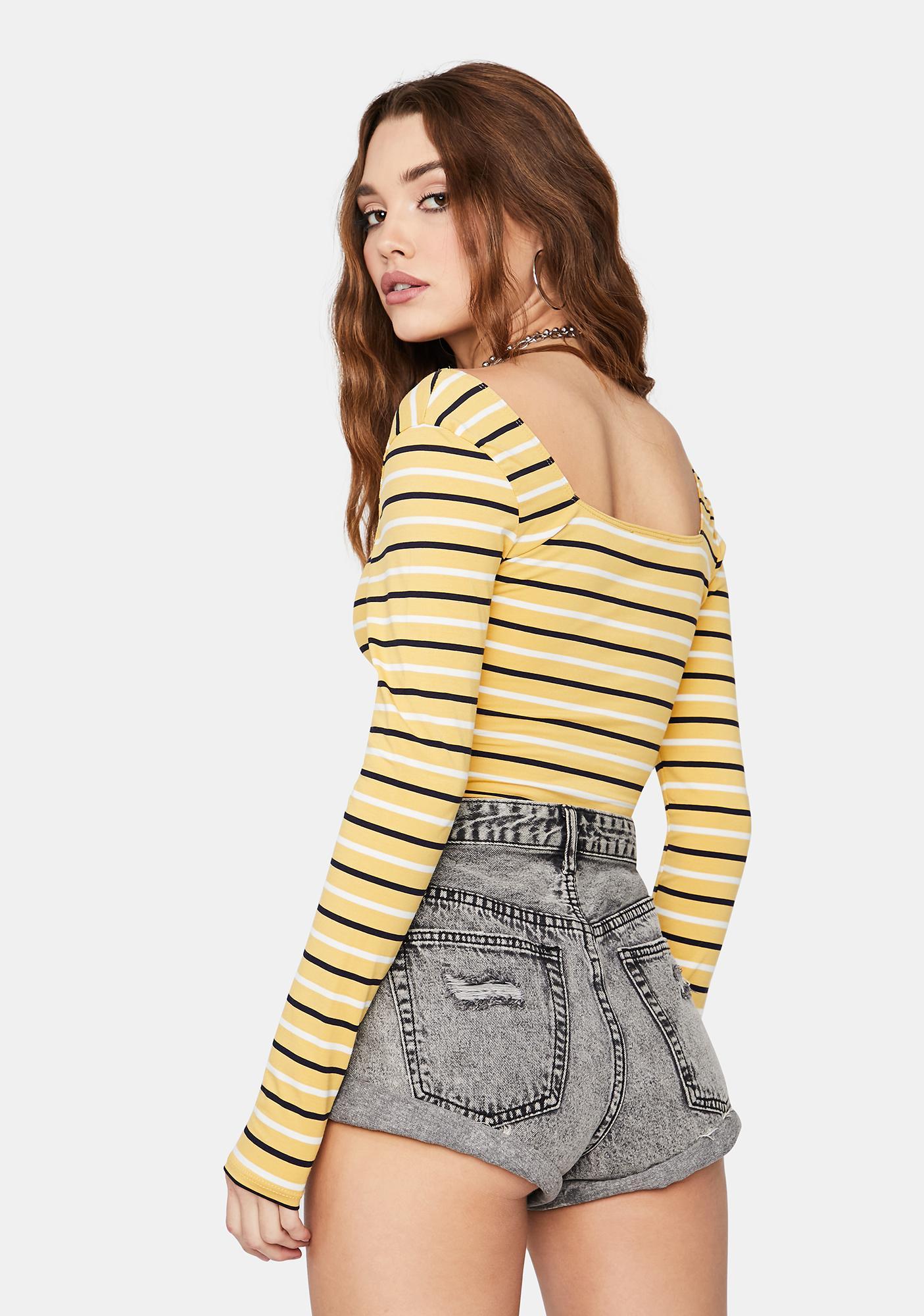 Let Me Know Striped Bodysuit