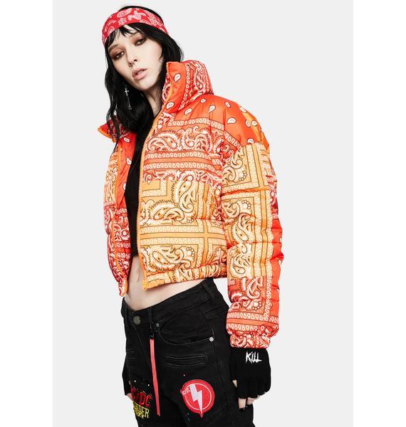 AZALEA WANG Paisley Midtown Puffer Jacket