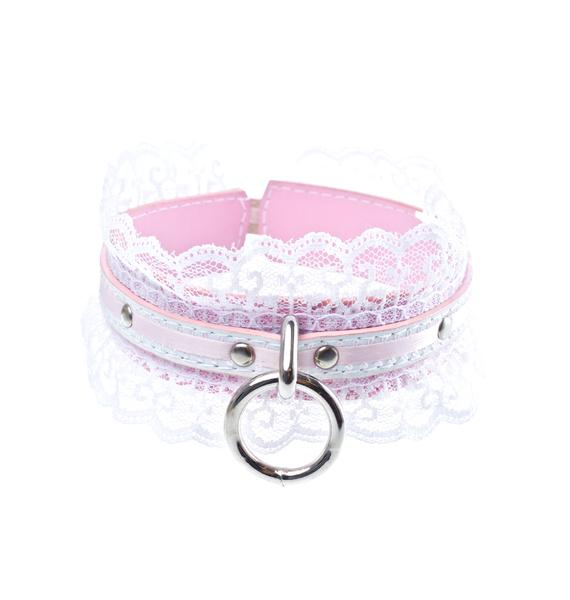 NecroLeather Victorian Wedding Bondage Collar