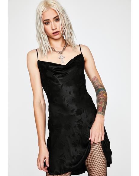 Wicked Wallflower Satin Slip Dress