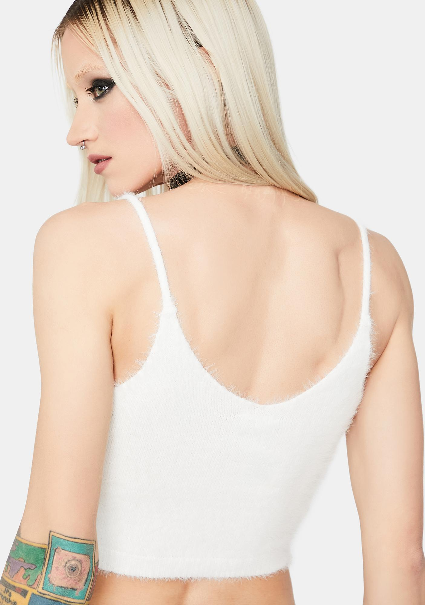 Back By Demand Fuzzy Knit Tank