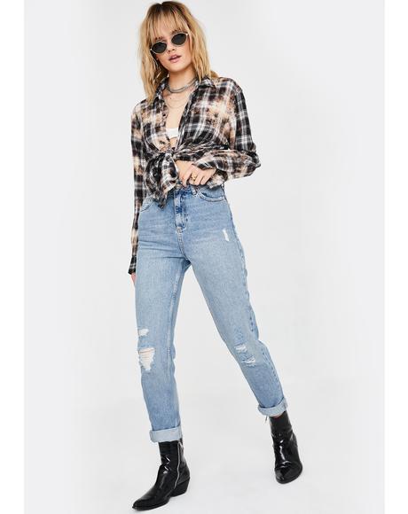 Destroyed Mom Jeans