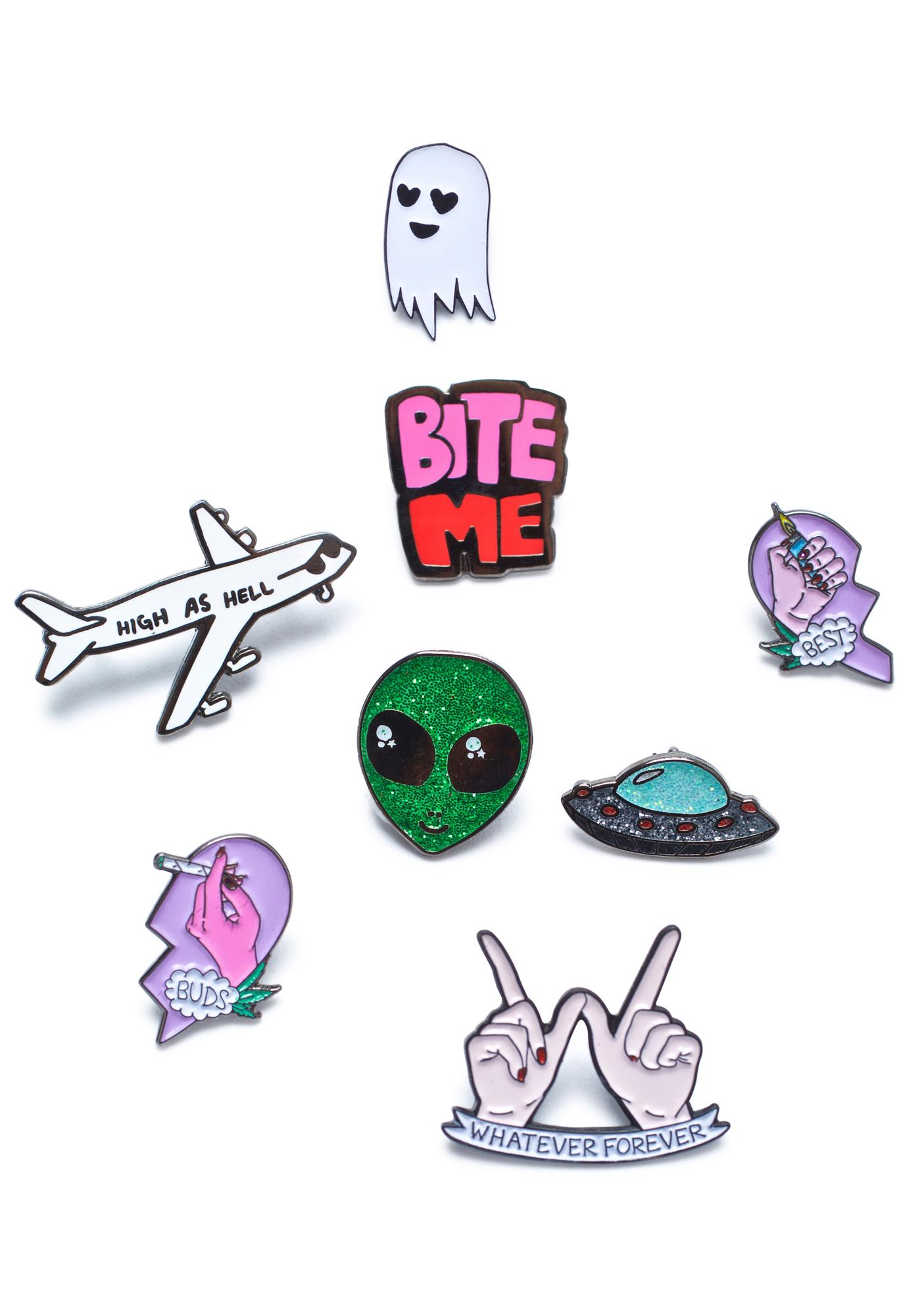 Sara M Lyons Outta This World Enamel Pin Set