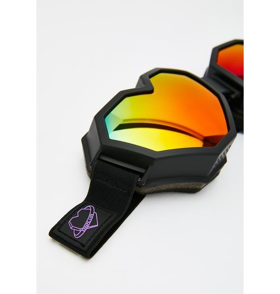 ESQAPE Black Heart Goggles
