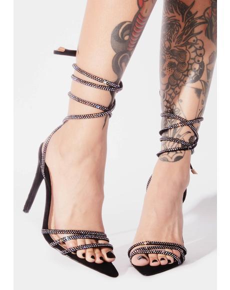 Brandy Rhinestone Wrap Heels