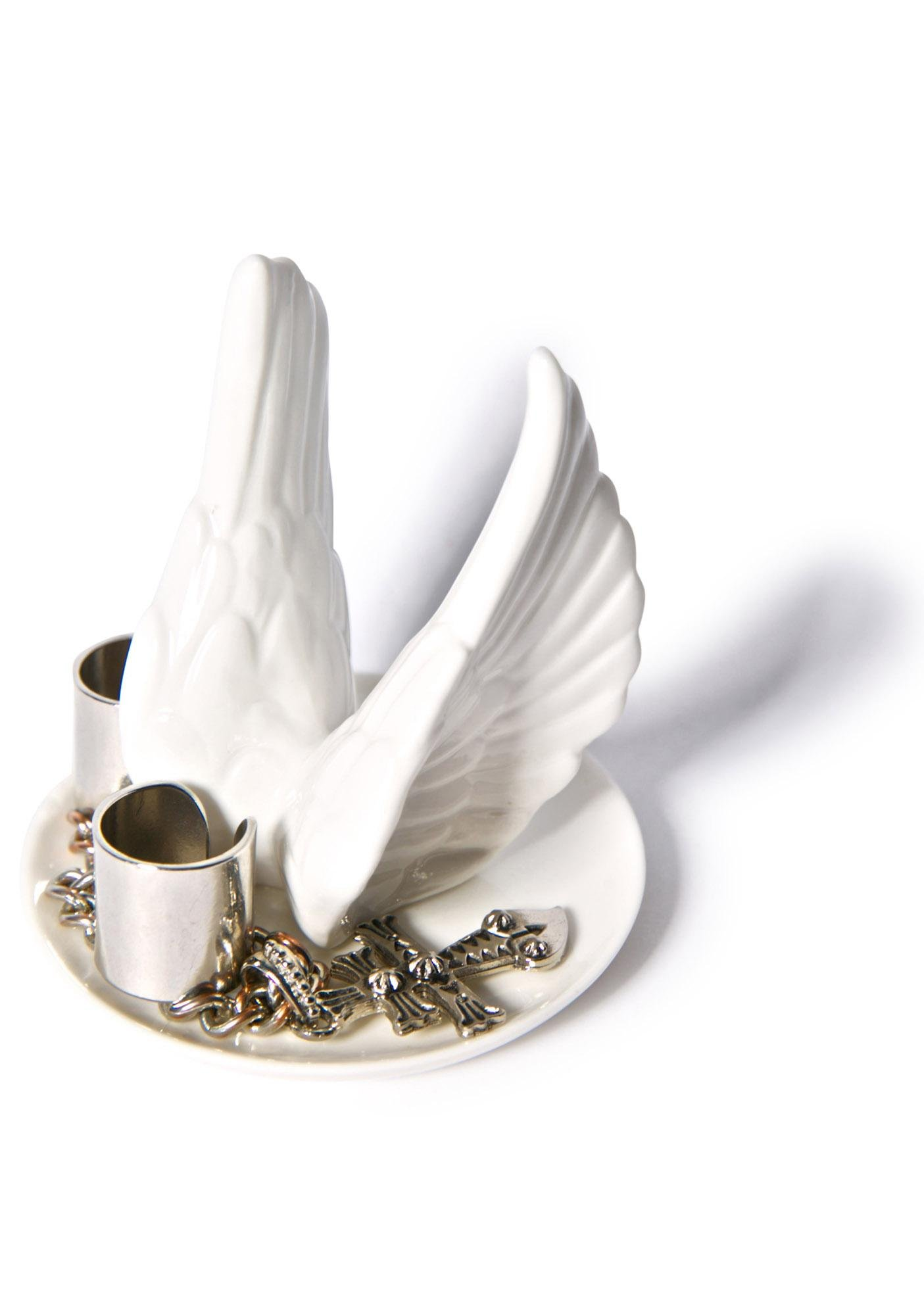 The Playful Swallows Bird Wing Ring Holder
