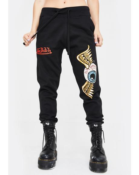 Flying Eyeball Jogger Sweatpants