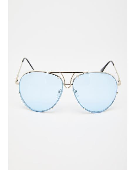 Retro Repeat Aviator Sunglasses