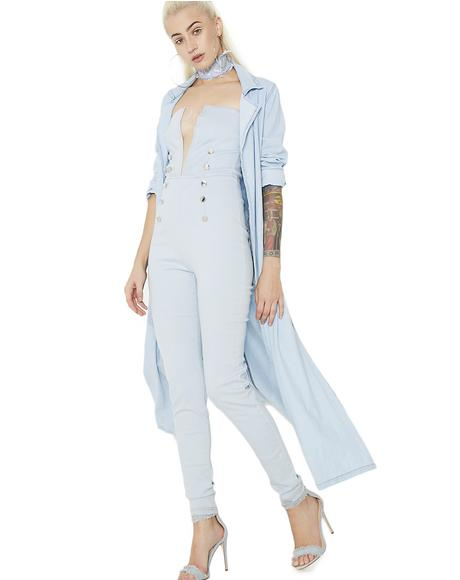 Vivian Cut-Out Denim Jumpsuit
