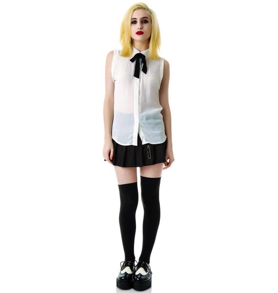 Pilgrimage Bow Tie Sleeveless Shirt