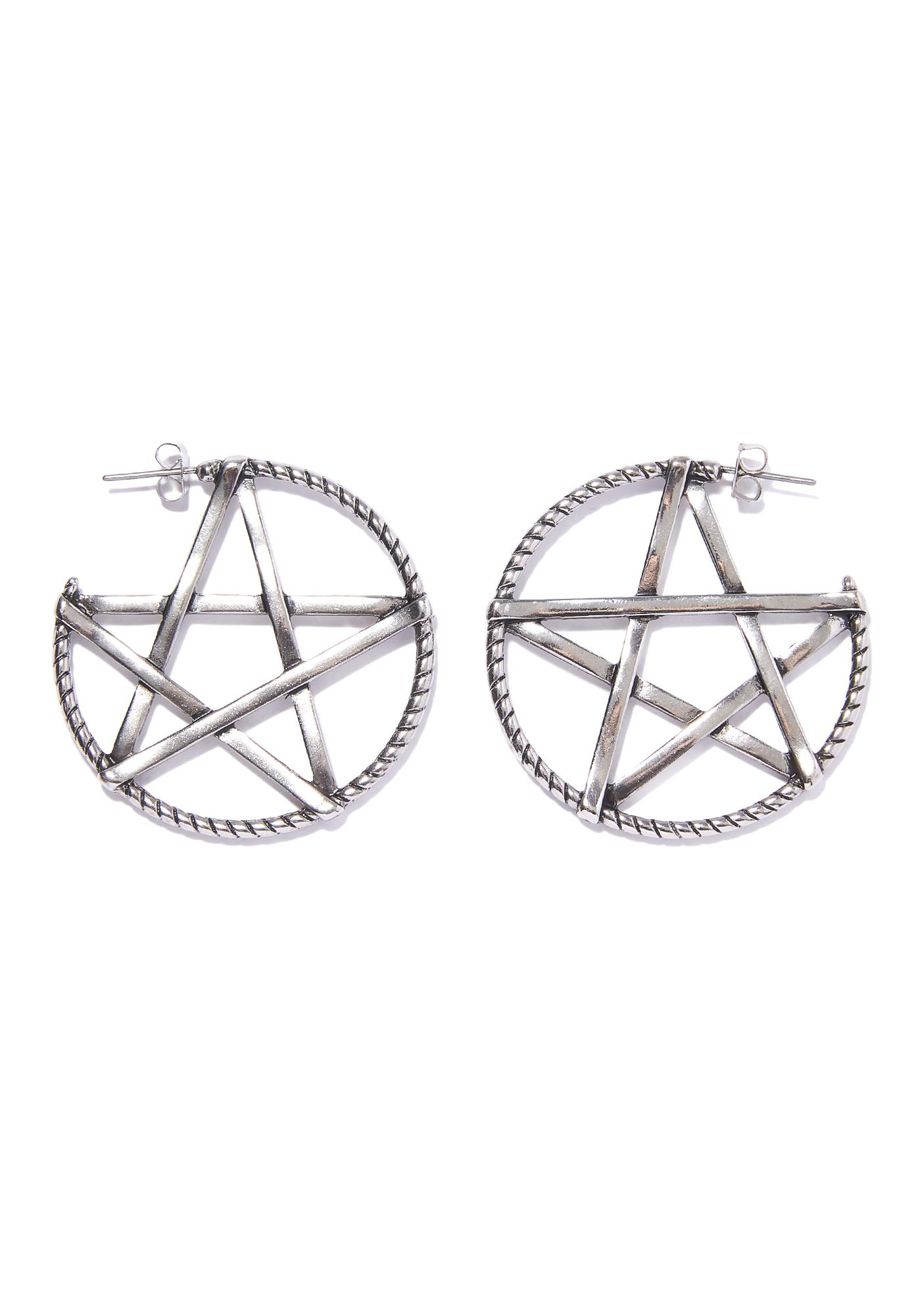 Magic Spell Hoop Earrings