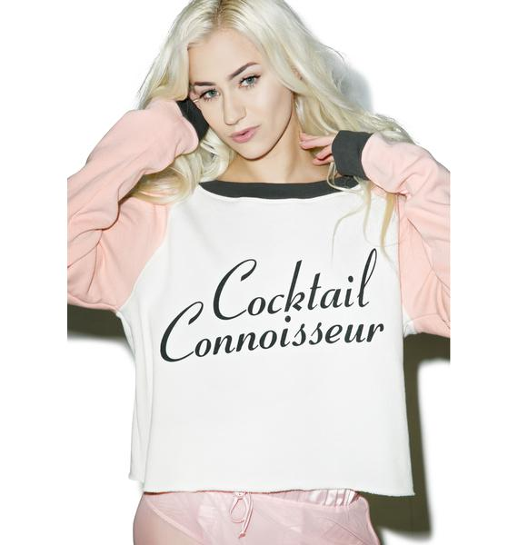 Wildfox Couture Cocktail Connoisseur Monte Crop Sweater