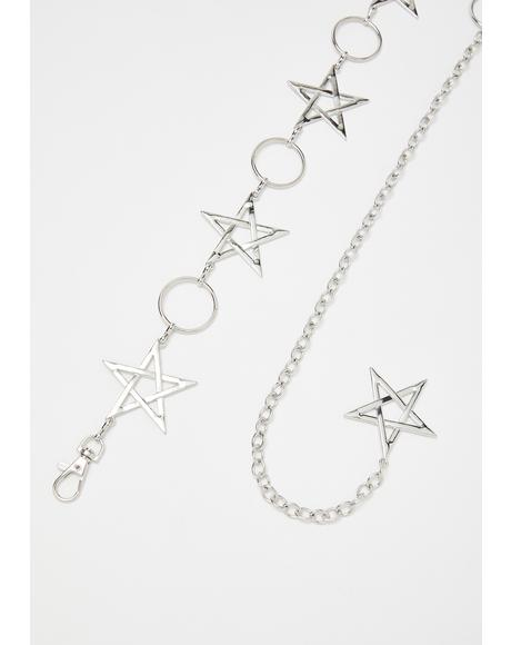Night Sky Star Chain Belt