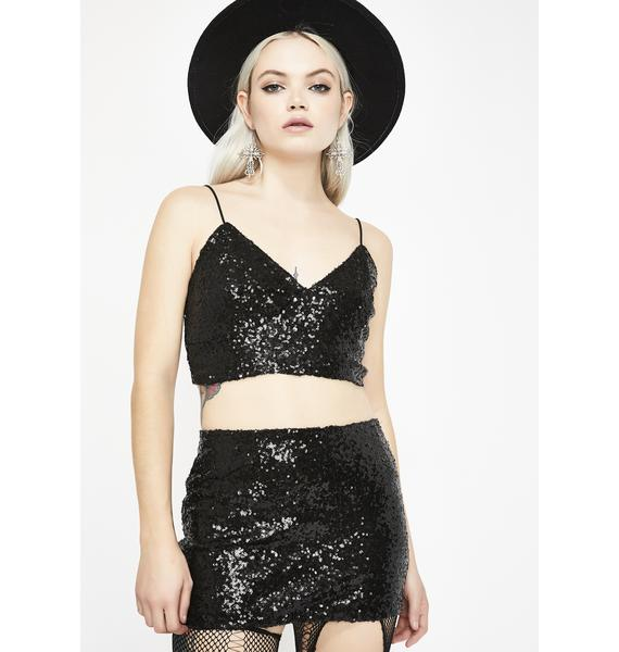 Fun Nights Sequin Skirt