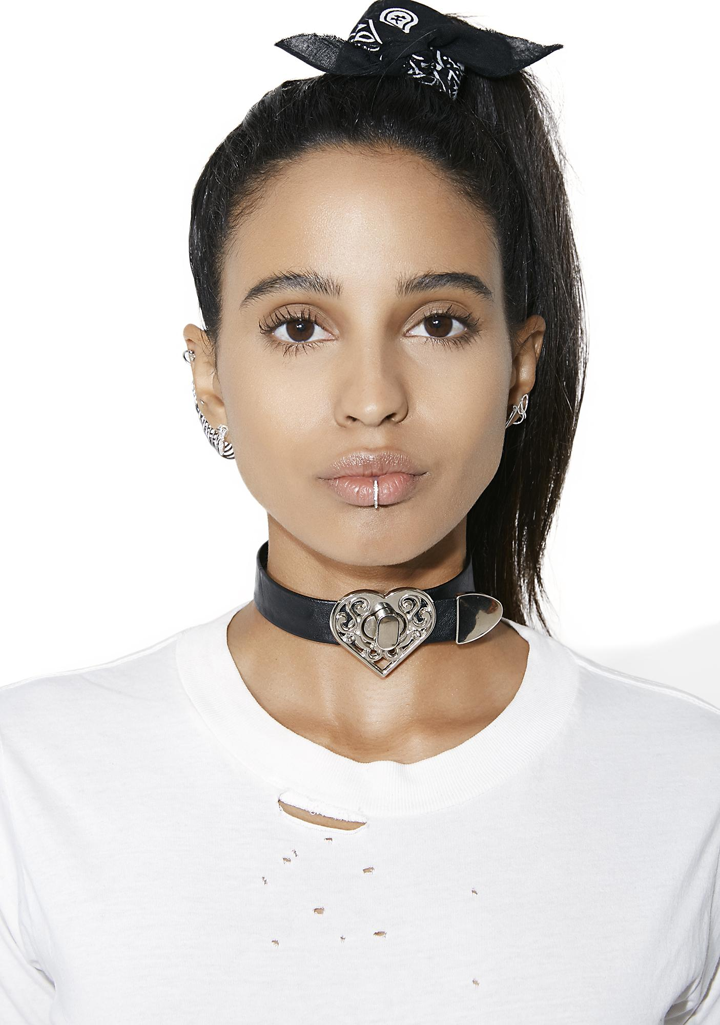 Love Lockdown Heart Choker