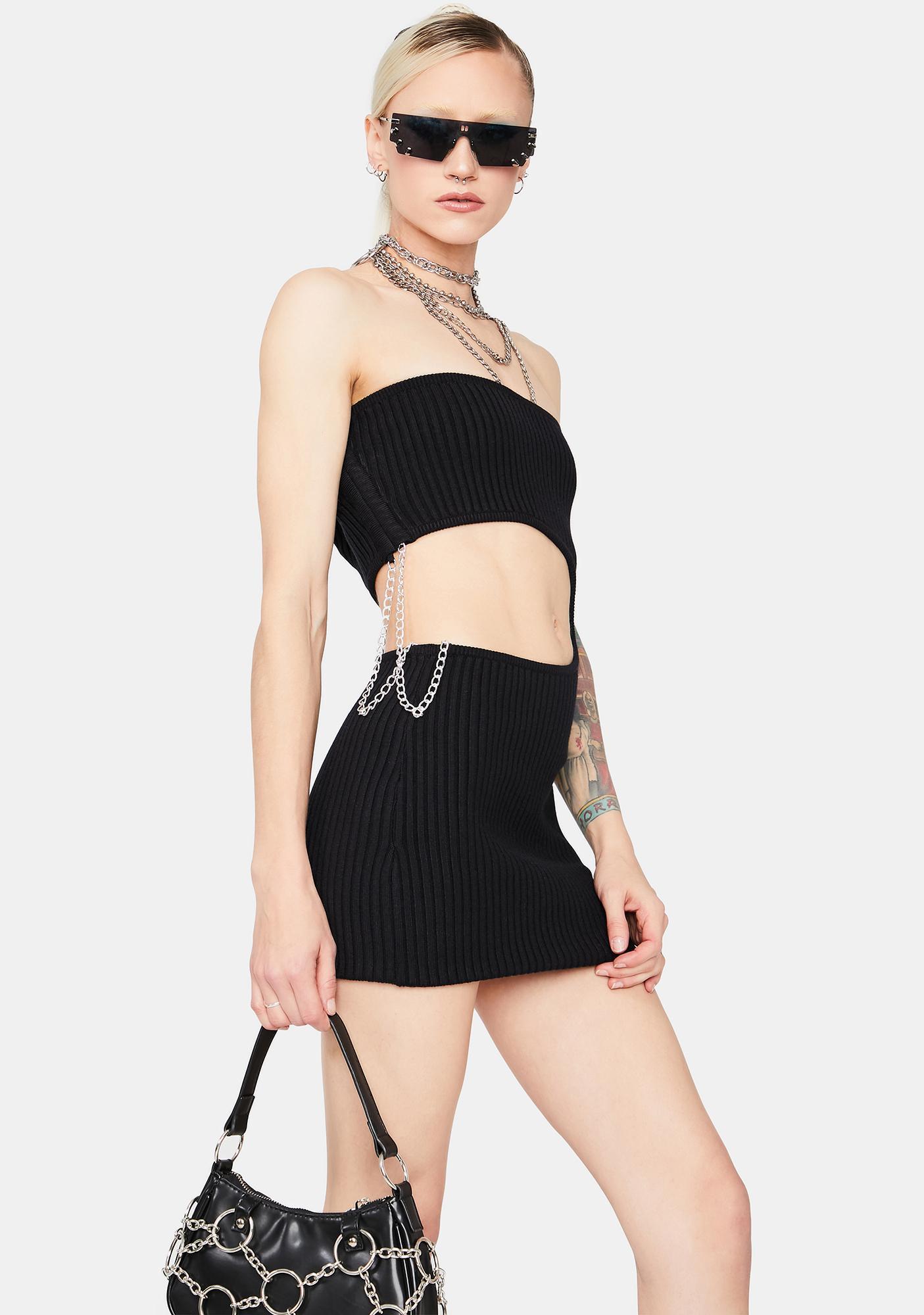 Risky Behavior Cutout Tube Dress