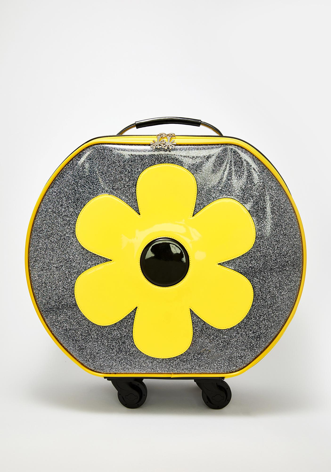 dELiA*s by Dolls Kill Wild Flower Roller Luggage
