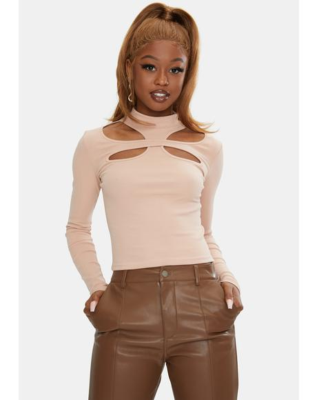 Rose Musette Cutout Top
