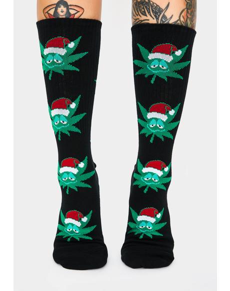 Green Buddy Santa Socks