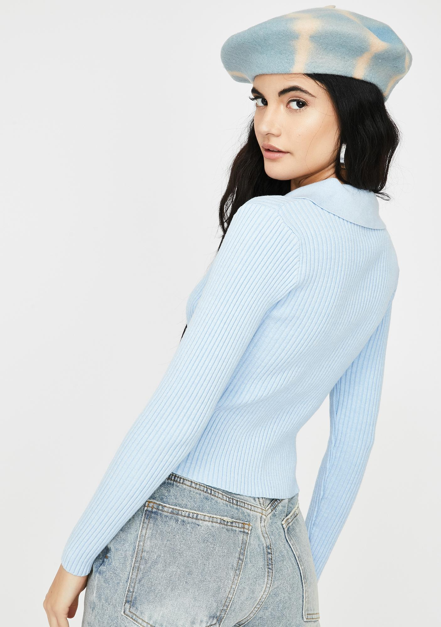 THE KRIPT Blue Jade Two Zipper Sweater