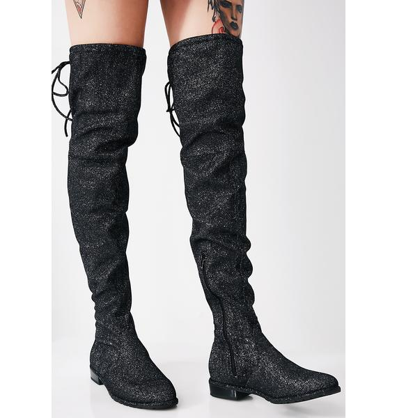 Glitter Ditz Over The Knee Boots