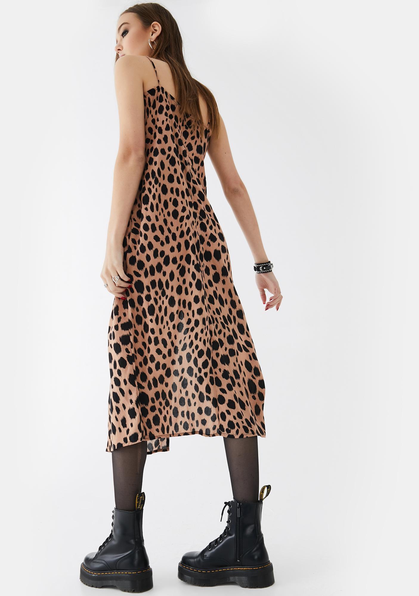 Motel Flintstone Cypress Midi Dress