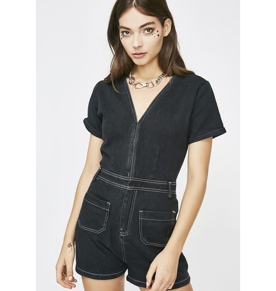 Lip Service Denim Romper