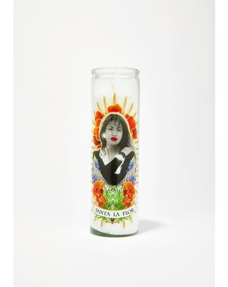 Santa La Flor Altar Candle