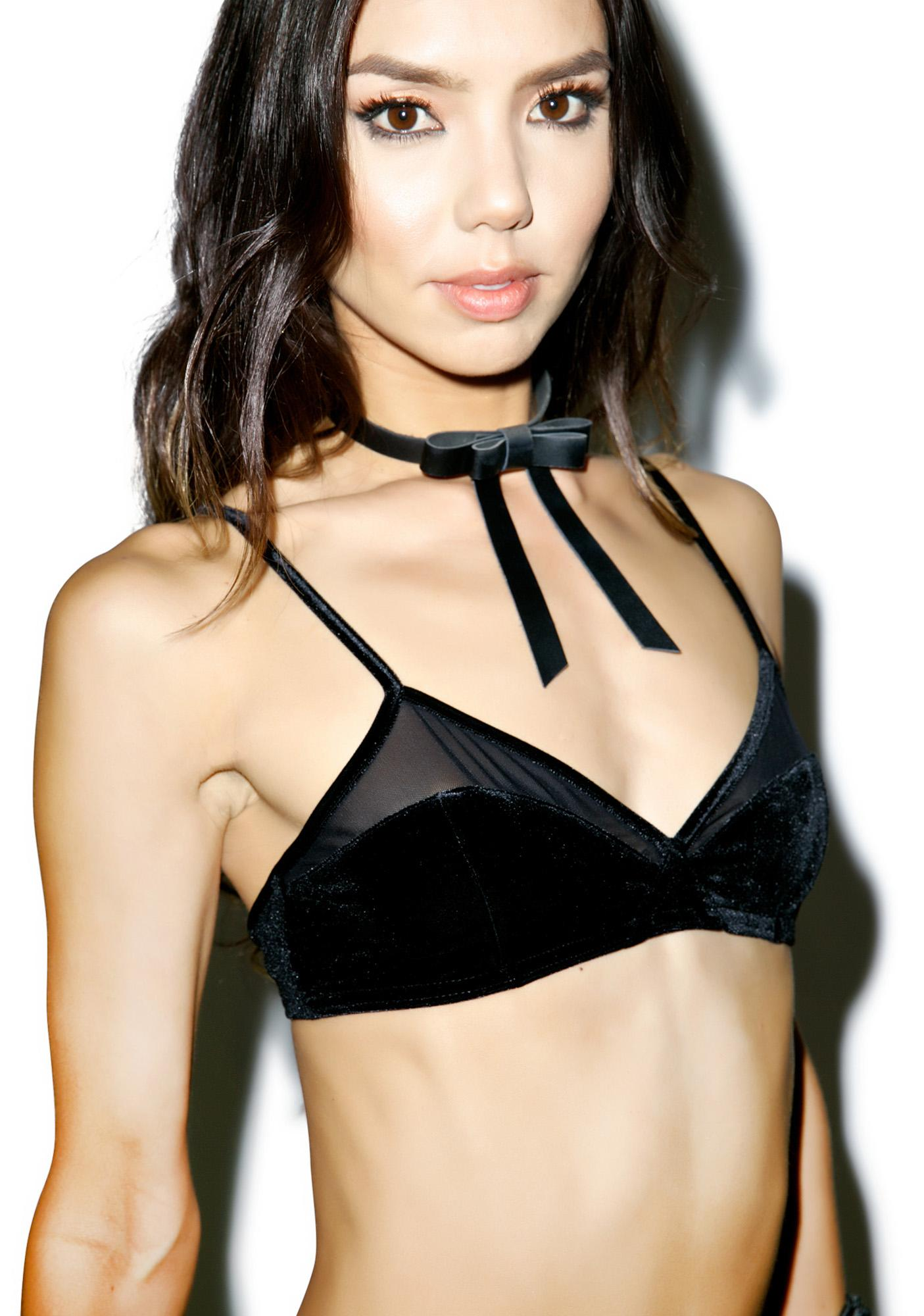 Touch It Velvet Bralette