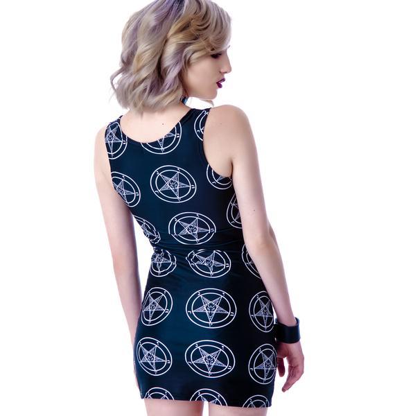 Tentacle Threads Baphomet Pentagram Tank Dress