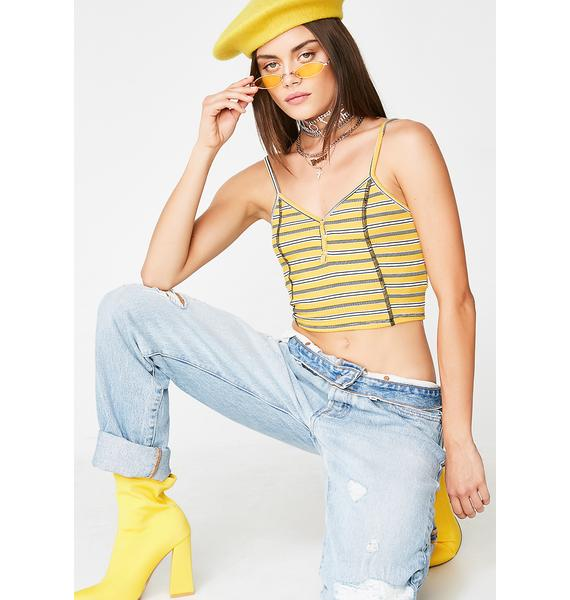 Sunny Wicked Chick Stripe Crop Top