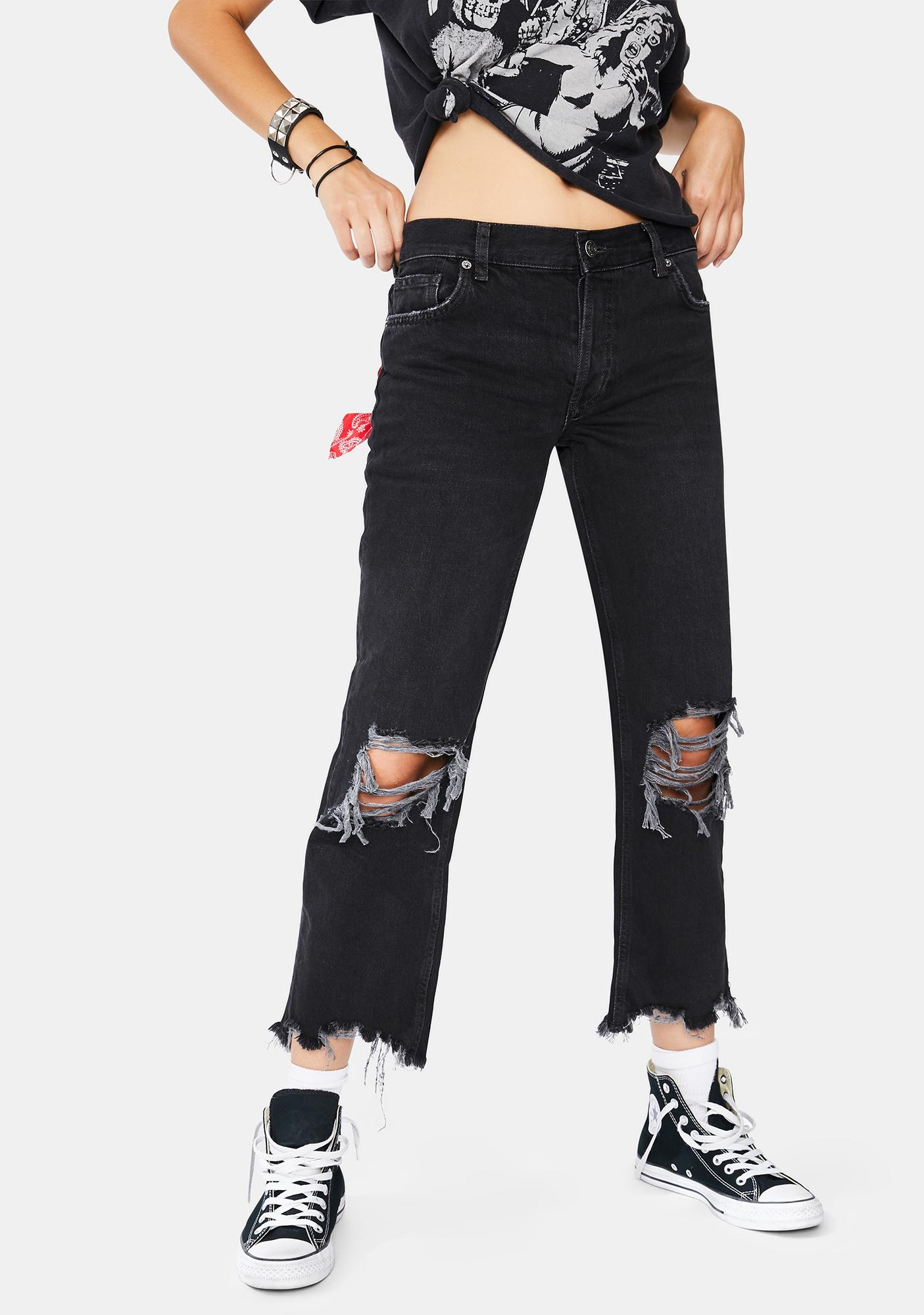 Free People Maggie Mid-Rise Straight Jeans