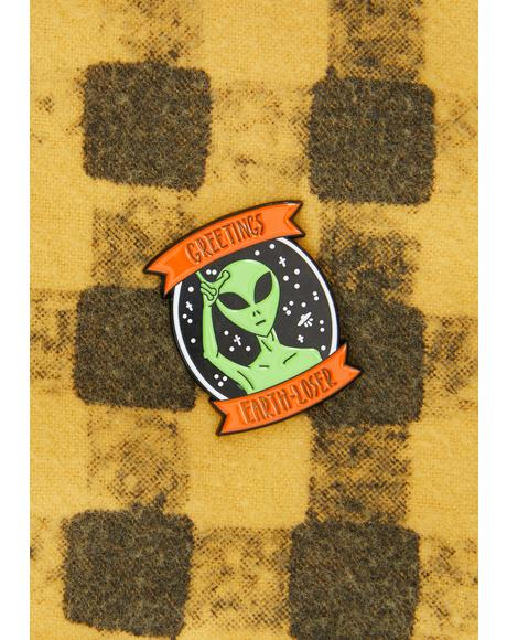 Earth Loser Enamel Pin