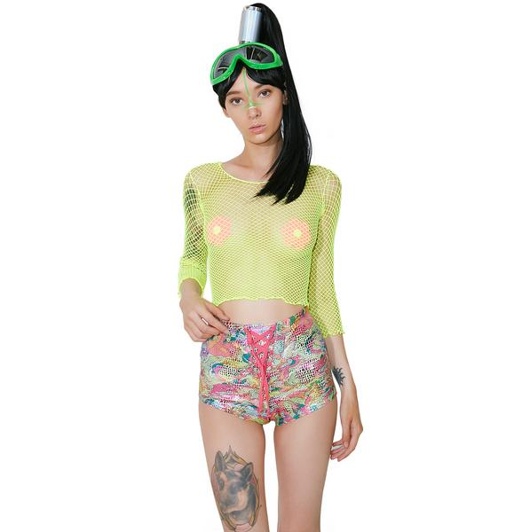 Club Exx Acid Oontz Lace-Up Shorts