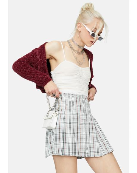 Dove Girl Get Gone Plaid Mini Skirt