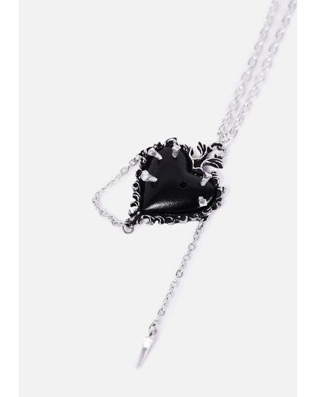 Witches Heart Chain Necklace