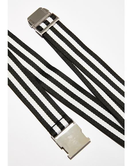 Bad Conduct Striped Belt