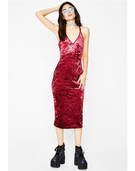 Love In The Mood Velvet Dress