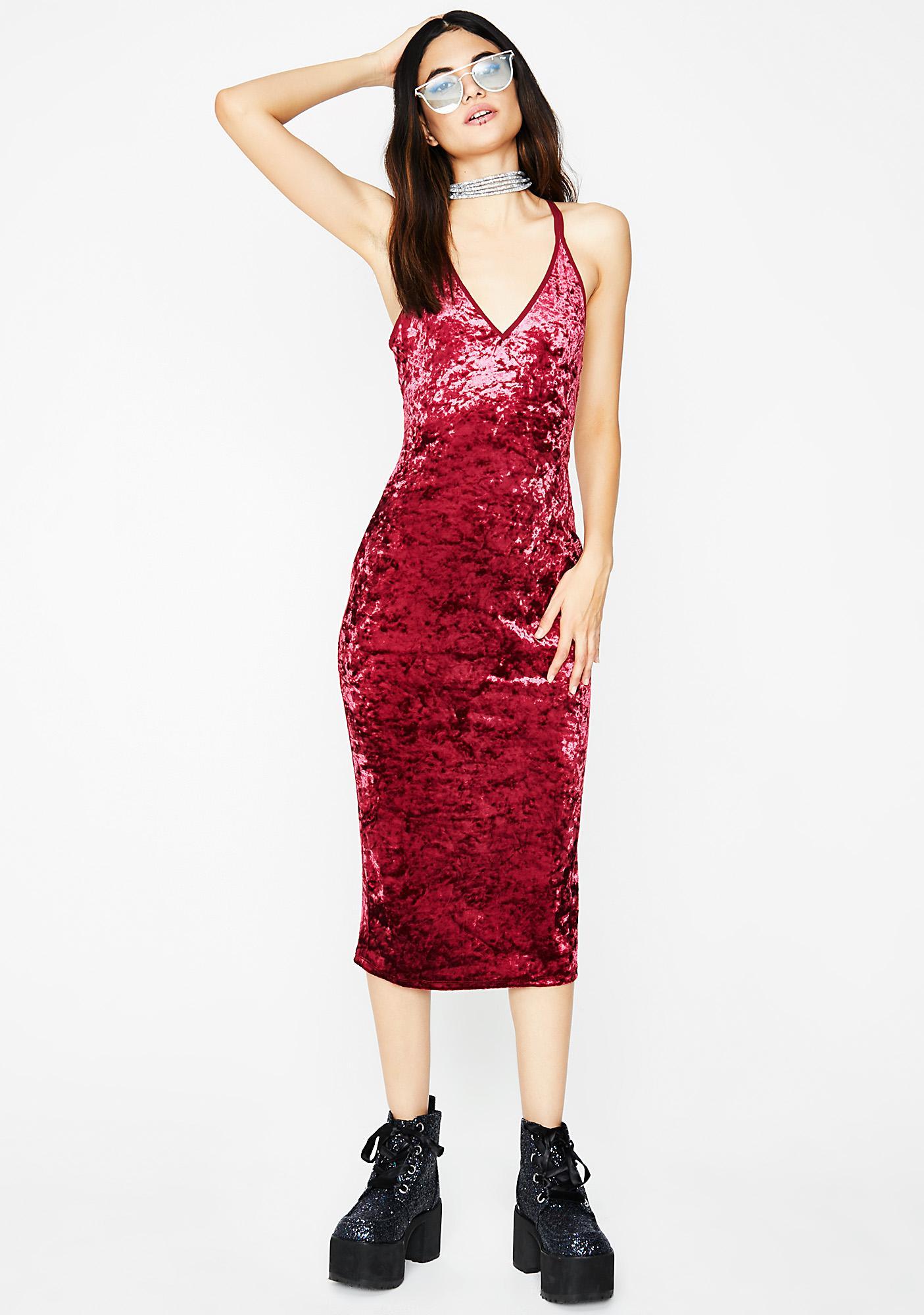 Love In The Mood Velvet Dress